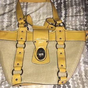 Coach wicker purse